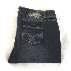 Love & Legend cropped dark wash Jeans
